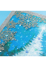 PAPYRUS® Christmas Card Snow Scene With Laser-Cut Snowflakes