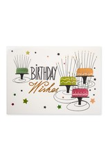 PAPYRUS® Birthday Card Birthday Wishes Long Candle Cakes