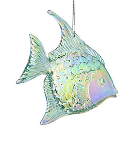 Kurt Adler Iridescent Acrylic Angel Fish Ornament - G