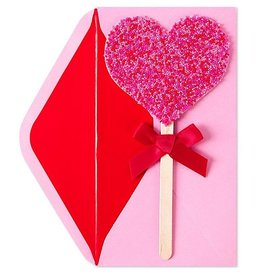 PAPYRUS® Valentine's Day Cards Beaded Heart Lollipop