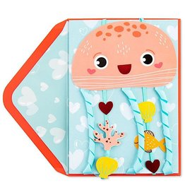 PAPYRUS® Valentine's Day Cards Lovey Dovey Jellyfish Hangable