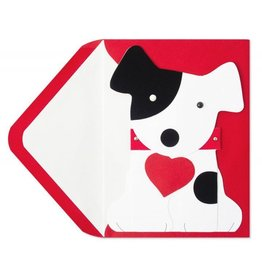 PAPYRUS® Valentine's Day Cards Dog Holding Heart