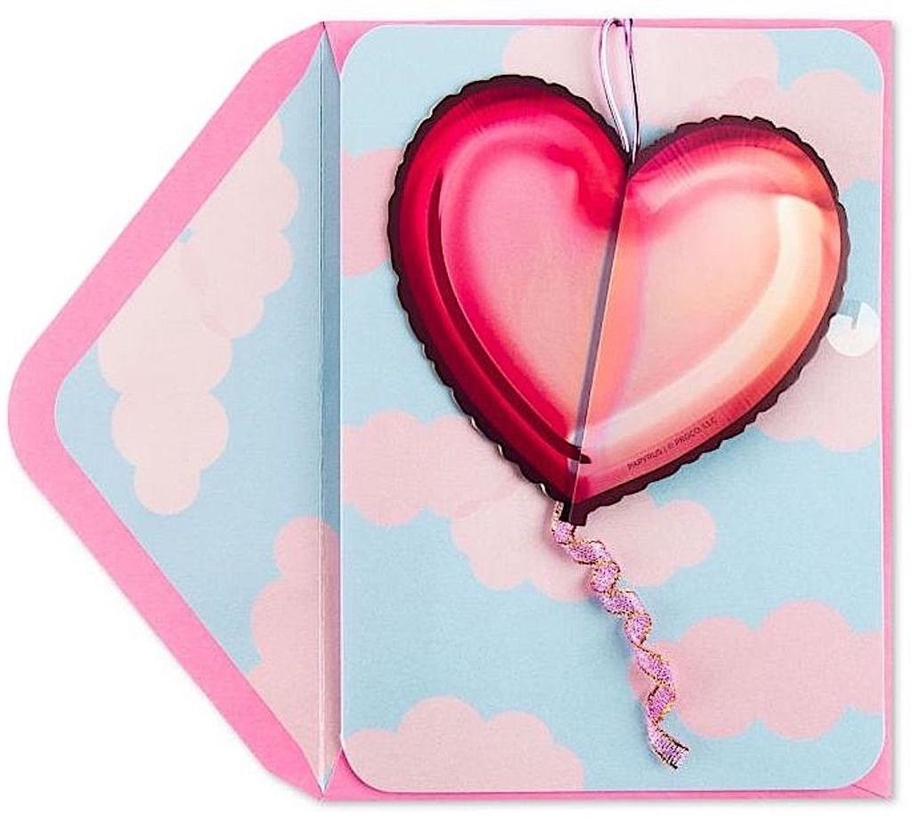 PAPYRUS® Valentine's Day Cards Honeycomb Heart Balloon