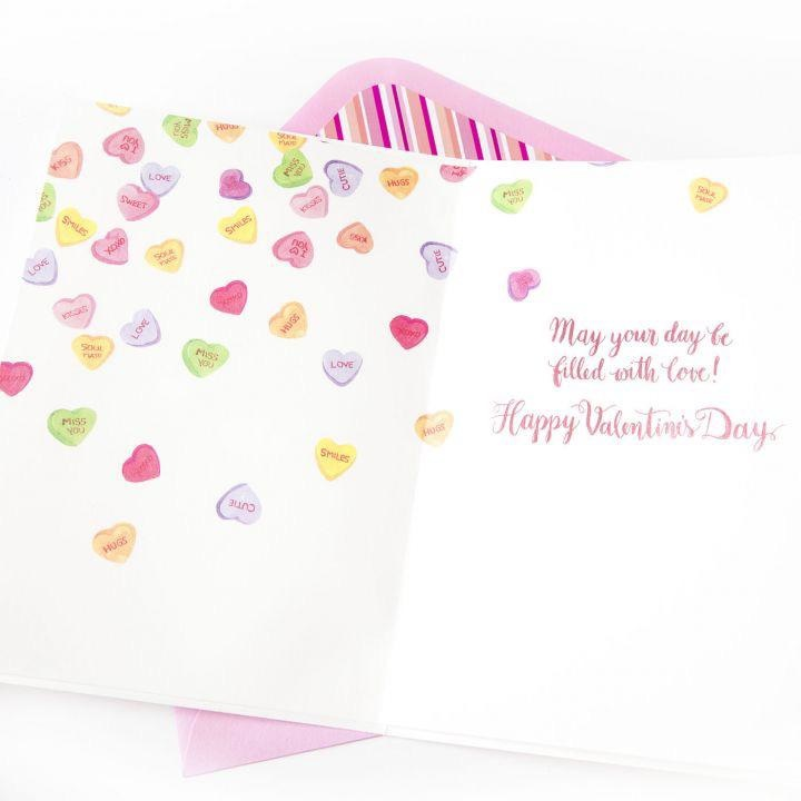 PAPYRUS® Valentine's Day Cards Flowers In Candy Hearts Vase