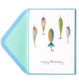 PAPYRUS® Birthday Cards Fish On Hooks