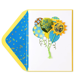 PAPYRUS® Get Well Card Green and Blue Cheery Balloons