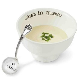 Mud Pie Just In Queso Dip Set With So Cheesy Stamped Ladle