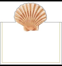Caspari Place Cards Tent Style 8pk Seaside Sea Shell
