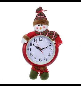 Kurt Adler Christmas Clock 17.5 inch Battery Operated Snowman Clock