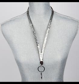 Jacqueline Kent Jewelry Crystal Bling Lanyard Silver Crystal JKLY007SI Jacqueline Kent Jewelry