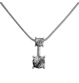 Annaleece Necklace Sweet Black Diamond Rhodium Pendant with Crystals