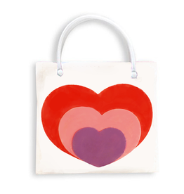 DM Merchandising Valentine's Gift Bag Tote HRT-BLM-D