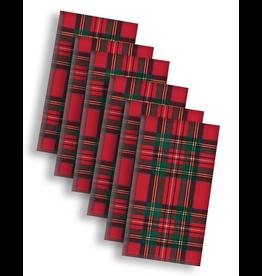 Caspari Paper Facial Tissues Package of 10 Hankies Christmas Royal Plaid SET 6 Packs