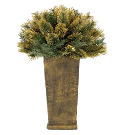 Mark Roberts Christmas Decorations Potted Entry Urn 3FT w Gold Tips