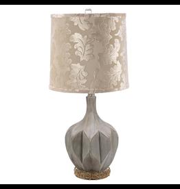 Mark Roberts Stylish Home Decor Octagonal Fluted Lamp Jeweled Base 28H