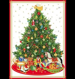 Caspari Christmas Advent Calendar Card - Oh Christmas Tree