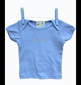 Mama and Bambino Infant Baby Tee with Rhinestone Bling T-Shirt Blue Baby
