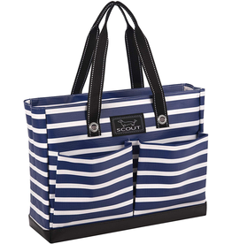 Scout Bags Uptown Girl Tote Bag Zip w Pockets Nantucket Navy