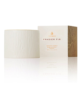 Thymes Frasier Fir Gilded Ceramic Candle Petite 6 Oz
