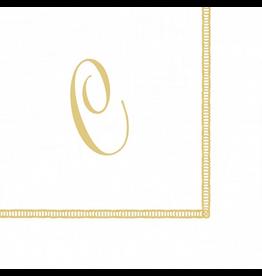 Caspari Monogram Initial C Paper Cocktail Napkins 20pk
