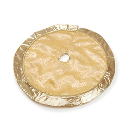 Darice Mini Christmas Tree Skirt 18 Inch Diameter Metallic Gold