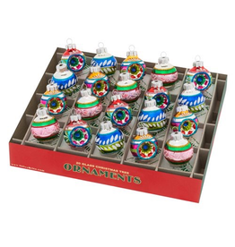 Christopher Radko Shiny Brite Christmas Confetti 20 Ct 1.25 inch Reflector N Decorated Rounds