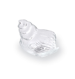 Mud Pie Glass Conch Shell Dip Cup 5.5x3.5 inch - Clear