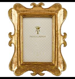 Twos Company Brocante Gold Leaf Frames Sm 4 x 6 inch - C