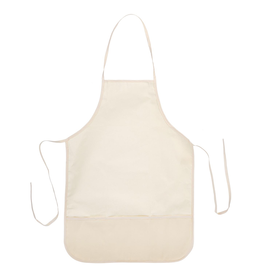 Darice Cotton Canvas Adult Apron With Pocket 19.7x27.3 Inch Natural