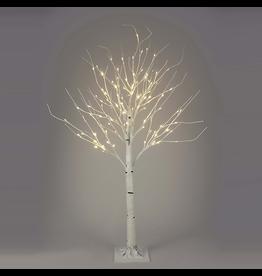 Kurt Adler White Birch Twig Tree Pre-Lit 6 FT WW LED Twinkle Lights