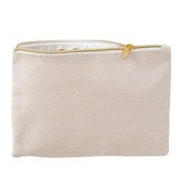 Darice Canvas Zipper Pouch 10Wx6.8 Inch 2 Pack Natural
