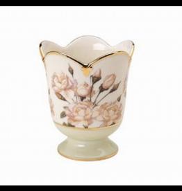 Artis Orbis White Rose Tea Light Votive Holder - Smithsonian Collection