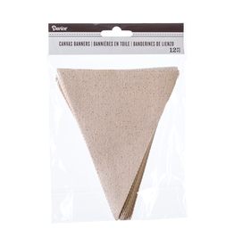 Darice Canvas Pennant Banners 4.75x6 Inch 12 Pack Natural