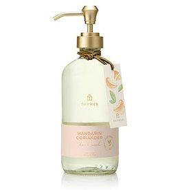 Thymes Mandarin Coriander Large Hand Wash 15 Oz Glass Bottle