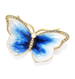 Jay Strongwater Decorative Trays Juliet Butterfly Trinket Tray