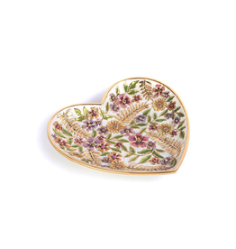 Jay Strongwater Decorative Trays Aria Floral Heart Trinket Tray - Flora