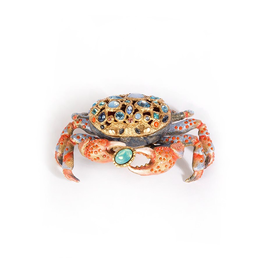 Jay Strongwater Decorative Boxes Gavin Crab Box