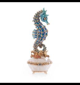 Jay Strongwater Decorative Boxes Elliot Seahorse Box - Oceana