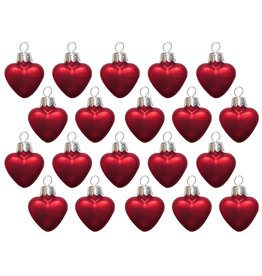 Kurt Adler Mini Red Hearts Ornaments Petite Treasures 20 Pack