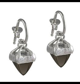 Waxing Poetic® Jewelry Gravitas Earrings Sterling Silver-Smoky Quartz