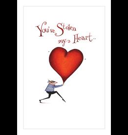 Caspari Valentine's Day Card 86410.14 You've Stolen My Heart Valentine Card