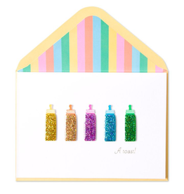PAPYRUS® New Baby Card Baby Bottles A Toast