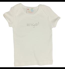 Mama and Bambino Infant Baby Tee with Rhinestone Bling T-Shirt  White w Angel