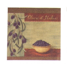 Jason Olive Bowl Serviettes-Paper Lunch Napkins by Jason
