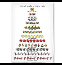 Peking Handicraft Holiday Flour Sack Kitchen Tea Towel A Food Lovers Christmas by Peking