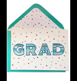 PAPYRUS® Graduation Card GRAD Embroidery