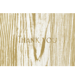 Caspari Thank You Note Cards Faux Bois Birch Boxed Set of 6