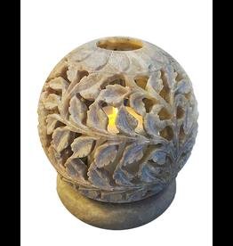 Et Al Designs Carved Sphere Tea Light Holder SM 3.5Dia