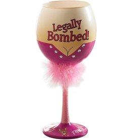 Mud Pie Legally Bombed Wine Glass 16 Oz
