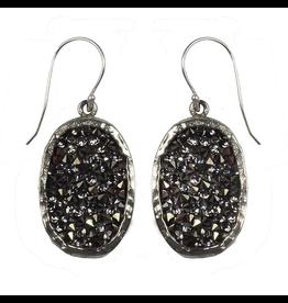 Waxing Poetic® Jewelry Kristal Oval Earrings White Bronze